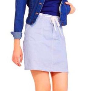 Faded Glory Blue & white Skort Size 14